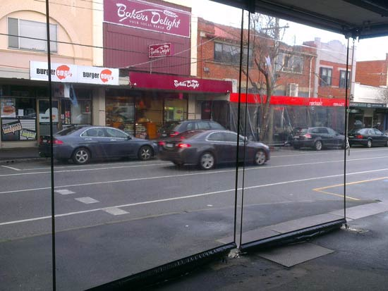 Commercial street cafe blinds campbell blinds and awnings
